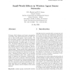 Small-world effects in wireless agent sensor networks