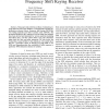 SNR Estimation for a Non-Coherent Binary Frequency Shift Keying Receiver