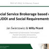 Social Service Brokerage Based on UDDI and Social Requirements