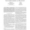 Socio-semantic Dynamics in a Blog Network