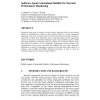 Software Agent Constrained Mobility for Network Performance Monitoring