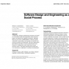 Software design and engineering as a social process