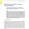 Software Design Metrics for Object-Oriented Software