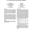 Software Size Measurement and Productivity Rating in a Large-Scale Software Development Department