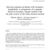 Solving Laplacian problems with boundary singularities: a comparison of a singular function boundary integral method with the p/