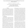 Source routing based pairwise key establishment protocol for sensor networks