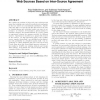 SourceRank: relevance and trust assessment for deep web sources based on inter-source agreement