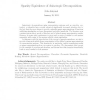 Sparsity Equivalence of Anisotropic Decompositions