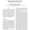 Spatial and Spectral Based Segmentation of Text in Multispectral Images of Ancient Documents