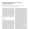 Spatial and temporal structure of phase synchronization of spontaneous alpha EEG activity