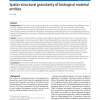 Spatio-structural granularity of biological material entities