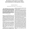 Spontaneous and Context-Aware Media Recommendation in Heterogeneous Spaces