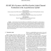 SS-MC-MA Systems with Pilot Symbol Aided Channel Estimation in the Asynchronous Uplink