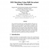SSD Matching Using Shift-Invariant Wavelet Transform