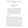 Standardization and Testing of Mathematical Functions