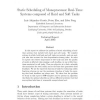 Static Scheduling of Monoprocessor Real-Time Systems composed of Hard and Soft Tasks