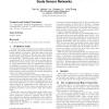 Statistical en-route filtering in large scale sensor networks