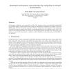 Statistical environment representation for navigation in natural environments