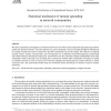 Statistical mechanics of rumour spreading in network communities