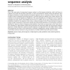 Statistical significance in biological sequence analysis