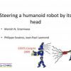 Steering a humanoid robot by its head