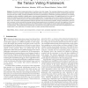 Stereo Using Monocular Cues within the Tensor Voting Framework