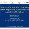 Stkm on Sca: A Unified Framework with Components, Workflows and Algorithmic Skeletons