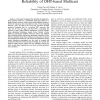 Stochastic Analysis and Improvement of the Reliability of DHT-Based Multicast