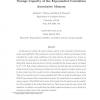 Storage Capacity of the Exponential Correlation Associative Memory