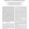 Storage load balancing via local interactions among peers in unstructured P2P networks
