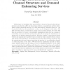 Strategic interactions between channel structure and demand enhancing services