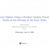 Stream Ciphers Using a Random Update Function: Study of the Entropy of the Inner State