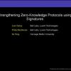 Strengthening Zero-Knowledge Protocols Using Signatures