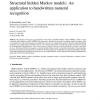 Structural hidden Markov models: An application to handwritten numeral recognition