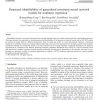 Structural identifiability of generalized constraint neural network models for nonlinear regression