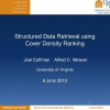Structured data retrieval using cover density ranking