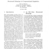 Structured Meanings in Computational Linguistics