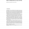 Studies on Editing Patterns in Large-scale Wikis