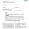 Supervised multivariate analysis of sequence groups to identify specificity determining residues