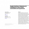 Supple interfaces: designing and evaluating for richer human connections and experiences
