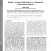 Supply Function Equilibrium in a Constrained Transmission System