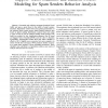 Support Vector Machines and Random Forests Modeling for Spam Senders Behavior Analysis