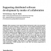 Supporting distributed software development by modes of collaboration