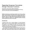 Supporting Groupware Conventions through Contextual Awareness