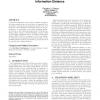 Sustaining diversity using behavioral information distance