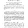 Switching Activity Minimization in Combinational Logic Design