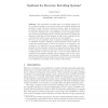Synthesis for Structure Rewriting Systems