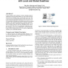 Synthesis of real-time embedded software with local and global deadlines