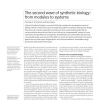 Synthetic biology: from modules to systems