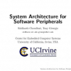 System Architecture for Software Peripherals
